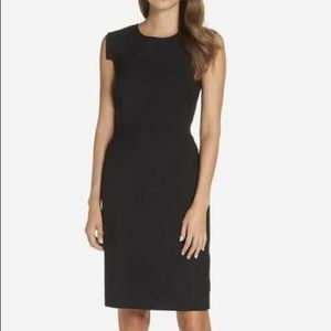 NWT J. Crew Crepe Short-Sleeve Black dress
